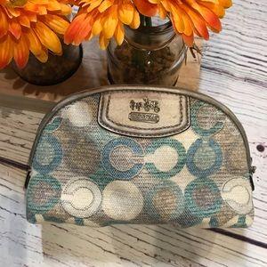 Coach multi-color cosmetic bag